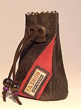 Peňaženky - M005 kožený meštek čierny s tmavozeleným odtieňom - 9076766_