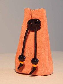 Peňaženky - M001_ kožený meštek oranžový - 9076620_
