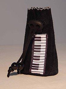 Peňaženky - M006 kožený meštek čierny s tmavozeleným odtieňom - 9076780_