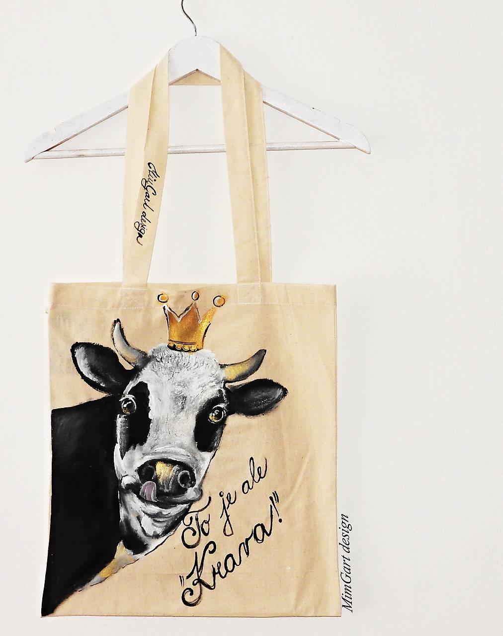 6d47b2821 Plátená taška, krava / mortisha851 - SAShE.sk - Handmade Nákupné tašky