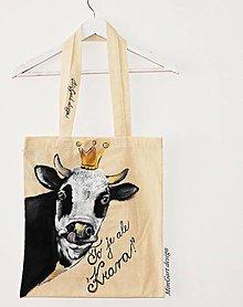 Nákupné tašky - plátená taška, krava - 9074713_