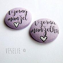 Pierka - Svadobné odznaky . Vzorní manželia - 9076346_