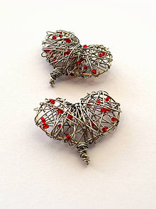 Dekorácie - Srdiečko dekoračné červené - 9075765_