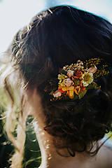 """Ozdoby do vlasov - Kvetinová sponka """"len trochu slnka"""" - 9075022_"""