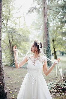 Ozdoby do vlasov - Nežná svadobná parta