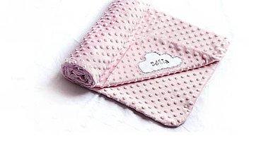 Textil - Minky deka Obláčik s menom  -11 odtieňov  - 9077123_