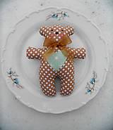 - Svadobné medvedíky, Beige & Mint - 9073948_