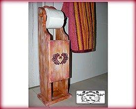 """Pomôcky - Stojan na toaletný papier """"Bordo""""-farby podla želania :) - 9076019_"""