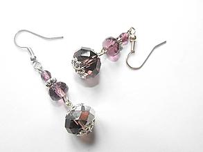 Náušnice - Náušnice- Ružové fialky - 9077756_
