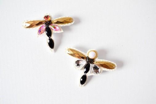 Vážka - brošňa strieborná