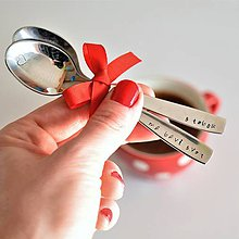 Pomôcky - Kávové lyžičky - s tebou / ma baví svet - 9074930_