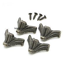 Polotovary - Set 4 kovových nožičiek - 9076455_