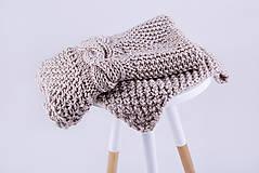 Úžitkový textil - Pletená hnedá deka - detská - 9075155_