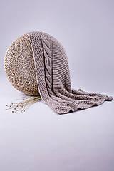 Úžitkový textil - Pletená hnedá deka - detská - 9075157_