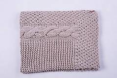 Úžitkový textil - Pletená hnedá deka - detská - 9075159_