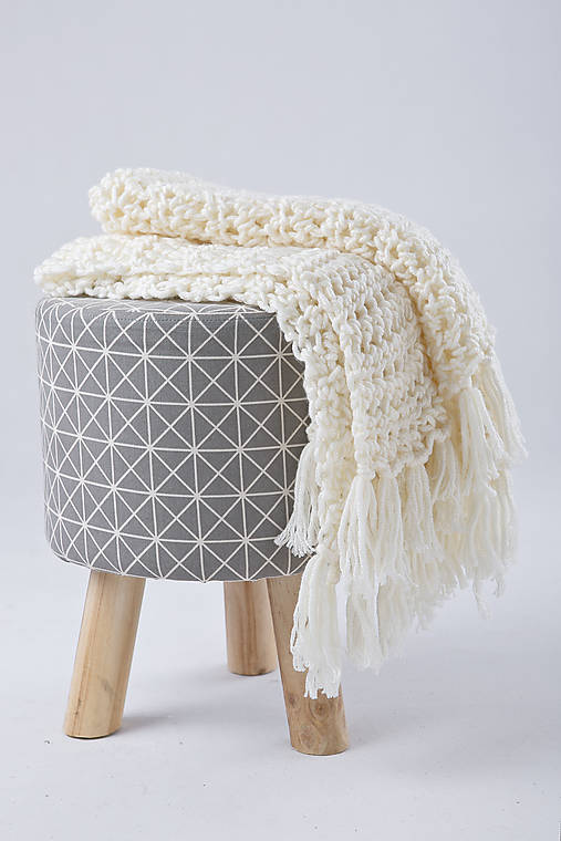 Úžitkový textil - Háčkovaná detská deka  - 9075140_