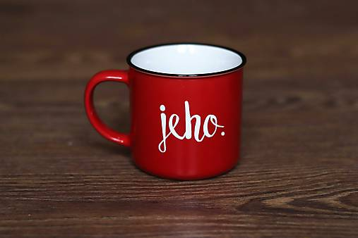 Nádoby - Jeho (červený keramický hrnček) - 9076230_