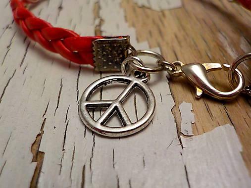 Náramok s príveskom pre šťastie (symbol mieru)   Katya dyzajn ... 92dc20e429a
