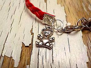 Náramky - náramok s príveskom-láska, zvieratká, deti (medvedík) - 9077541_