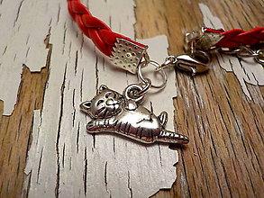 Náramky - náramok s príveskom-láska, zvieratká, deti (mačka) - 9077583_