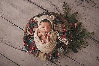 Detské oblečenie - Čiapka pre novorodenca - 9081967_