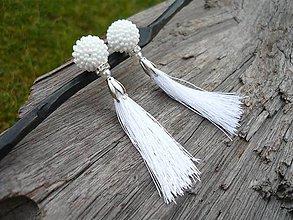 Náušnice - Náušnice White Elegant - 9082598_