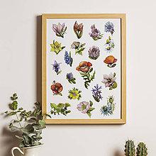 Grafika - Plagát kvetinový A3. - 9080716_