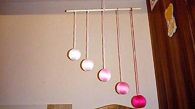 Hračky - Gobbi - montessori mobil (Ružová) - 9080249_