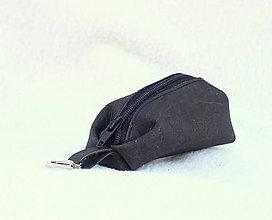 Kľúčenky - Korková kľúčenka black - 9081642_