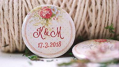 Darčeky pre svadobčanov - Svadobný odznak - 9081979_