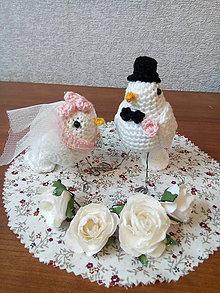 Socha - Svadobny par- vtaciky - 9078145_