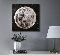 Obrazy - Strieborný mesiac - 9082054_