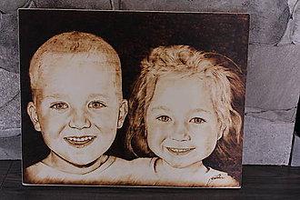Obrázky - Portrét ručne vypálený do dreva - 9080483_