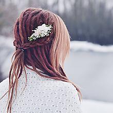 Ozdoby do vlasov - Kvetinová spona do vlasov - 9078058_