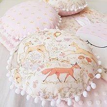 Textil - Gulaté vankúšiky lesné zvieratká (béžová minky) - 9079659_