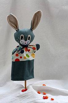 Hračky - Maňuška. Zvieratko Zajac Bonifác - 9082191_