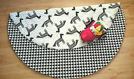 Textil - Okrúhla hracia detská podložka Koníky 145cm - 9082171_