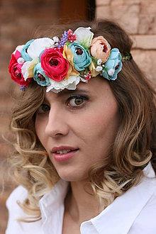 Ozdoby do vlasov - Kvetinová čelenka