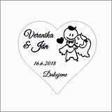 Darčeky pre svadobčanov - Srdiečko pre hostí 22 - magnetka - 9082756_