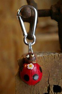 Kľúčenky - Kľúčenka LIENKA - lieskový orech - 9078313_