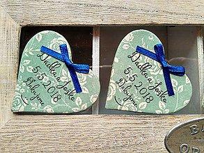 Darčeky pre svadobčanov - mätové magnetky s mašličkami - 9082661_