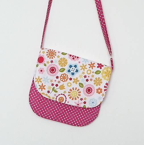 ae1ba2b227 Detská kabelka kvetinková (biely podklad)   LEAN - SAShE.sk ...