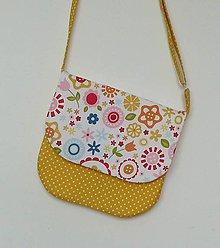 Detské tašky - Detská kabelka kvetinková  (biely podklad) - 9080279_