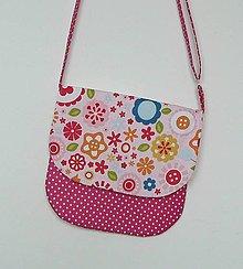 Detské tašky - Detská kabelka kvetinková  (ružový podklad) - 9080292_