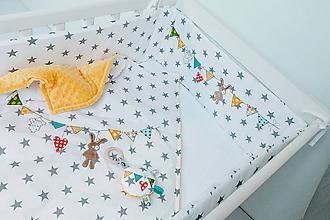 Textil - Mantinel do postieľky s vlajočkami - 9081715_