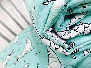 Textil - Lahka deka a vankus mint tyrkys dinosaury - 9078928_