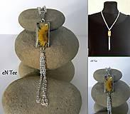 Náhrdelníky - Žltý kvet v ráme - náhrdelník - 9078865_