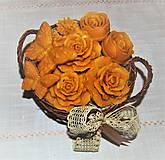 Dekorácie - Košík plný kvetín - 9080563_