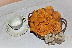 Dekorácie - Košík plný kvetín - 9080566_