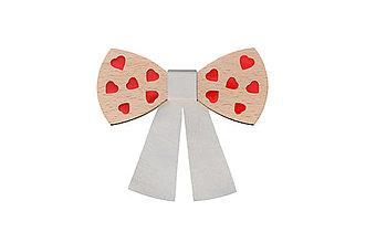Náhrdelníky - Drevený motýlik VALENTINE (Modrá) - 9081356_